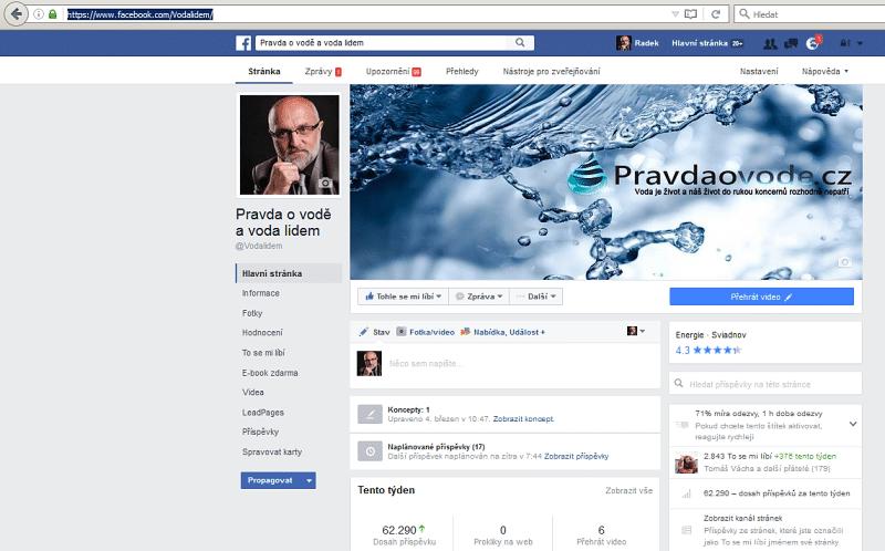 facebook VODA LIDEM A PRAVDA O VODĚ
