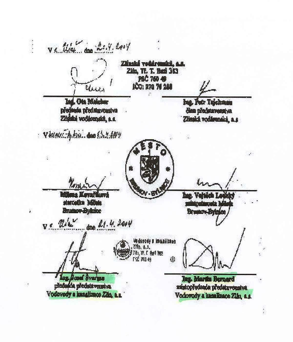 Smlouvy vedoucí k podpisu smlouv s Veolií podepisují lidé z Veolie nebo pro ni pracující!