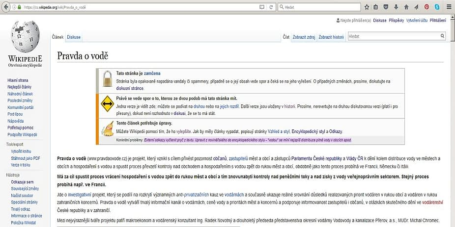 wikipedia zablokovala anonyma